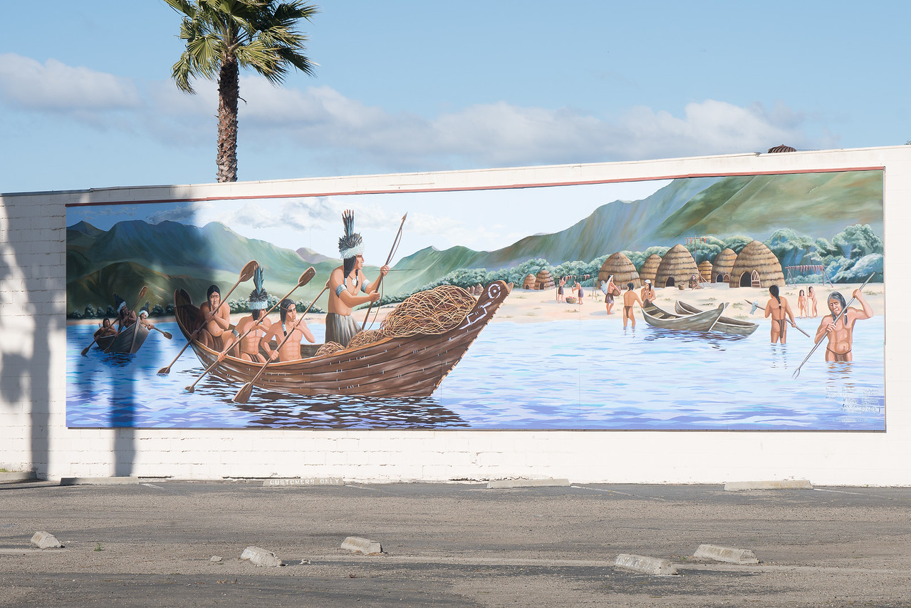 Chumash Indians, a mural from 1992