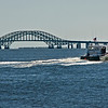 Robert Moses Bridge Causeway, from Babylon, with boat