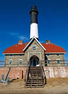 The lighthouse on a clear winter day on Fire Island