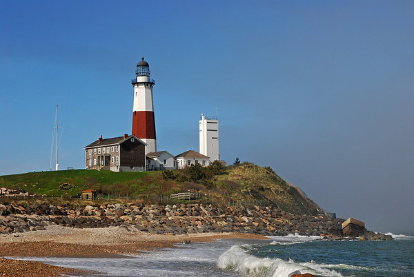 Montauk Lighthouse on cliff