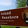 Fire Island National Seahore sign, US Department of Interior, National Park Service