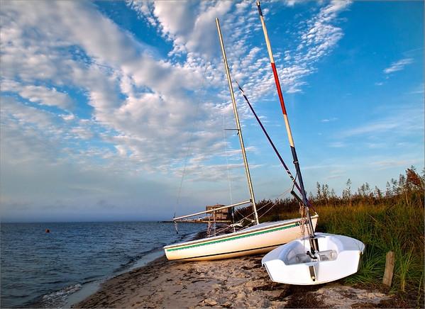 Davis Park sailboats