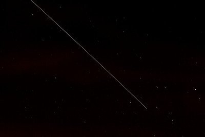 International Space Station fly over. This is a 30-second exposure which gives the stars little trails.