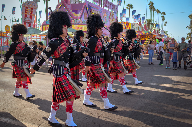 Glendora High School Pipers on parade at the LA County Fair