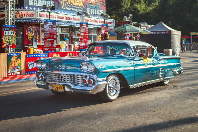 1958 Chevrolet, part of the afternoon parade at the LA County Fair