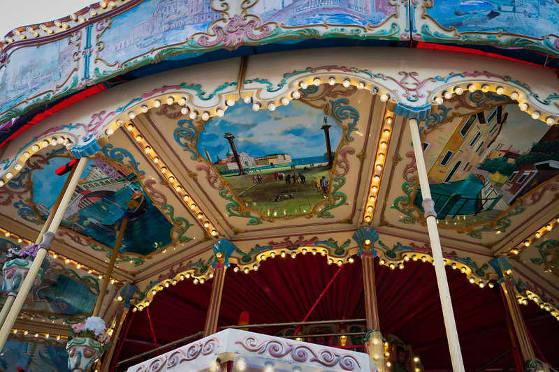 Detail on one of the many carousel at the fair