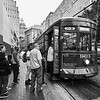 Boarding, St. Charles Streetcar - New Orleans, Louisiana
