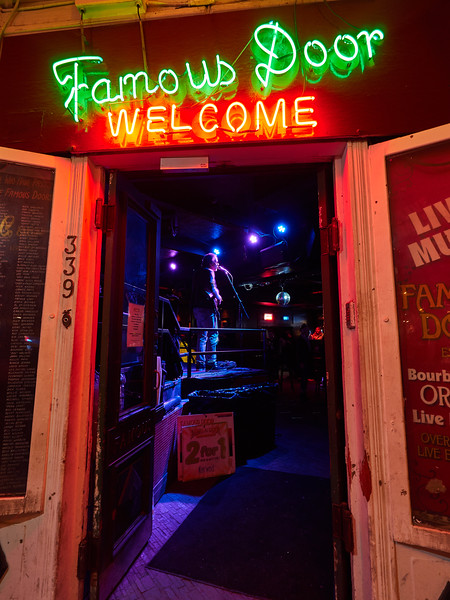 Famous Door, Bourbon Street - New Orleans, Louisiana