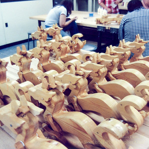 Wooden Dragon Push Toy