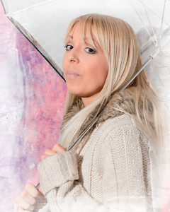 Lynsey with umbrella