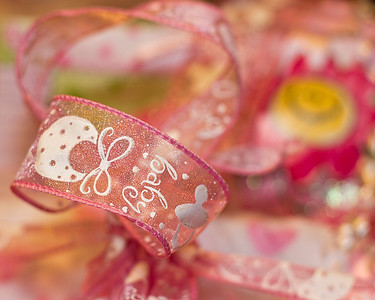 Ribbon on a gift to welcome Baby...