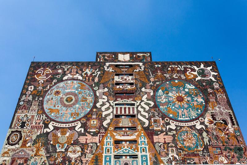 MEXICO CITY.CIUDAD UNIVERSITARIA (UNAM). BIBLIOTECA CENTRAL [CENTRAL LIBRARY].