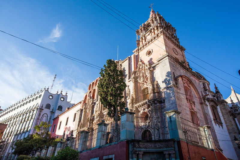 GUANAJUATO. TEMPLO DE LA COMPANIA DE JESUS CHURCH.