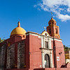 GUANAJUATO. RED CATHOLIC CHURCH.