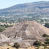 MEXICO. TEOTIHUACAN. PYRAMID OF THE MOON - PIRAMIDE DE LA LUNA.