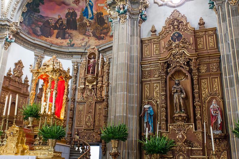 MEXICO CITY. COYOACAN. PARROQUIA DE SAN JUAN BAUTISTA CHURCH.
