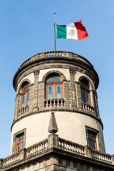 MEXICO CITY. CASTILLO DE CHAPULTEPEC CASTLE.