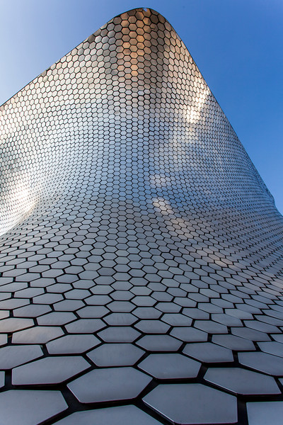 MEXICO CITY. FACADE OF MUSEO SOUMAYA.