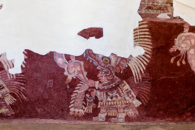 MEXICO. TEOTIHUACAN. MURALS INSIDE PALACIO DE TEPANTITLA.