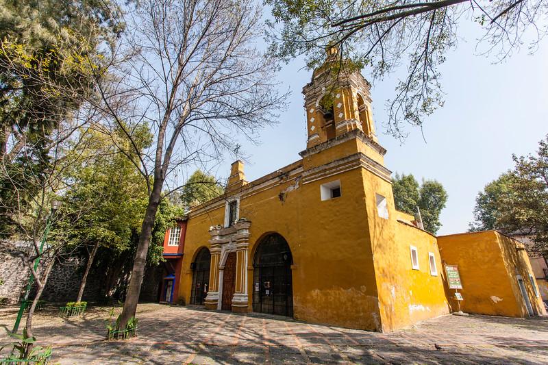 MEXICO CITY. COYOACAN. CAPILLA DE SANTA MARIA CHAPEL.