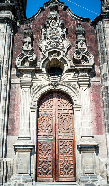 MEXICO CITY. The Sagrario chapel of the Metropolitan Cathedral in Mexico City