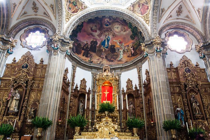 MEXICO CITY. COYOACAN. PARROQUIA DE SAN JUAN BAUTISTA CHURCH.