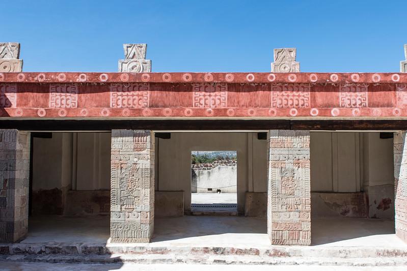 MEXICO. TEOTIHUACAN. PALACIO DE QUETZALPAPALOTL PALACE.