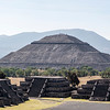 MEXICO. TEOTIHUACAN. PYRAMID OF THE SUN - PIRAMIDE DEL SOL.