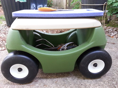 """My """"Garden Hopper""""...for no-fuss planting and maintaining my gardens...Love it!"""