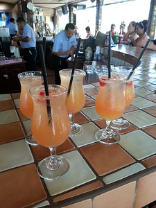 Two-for-One at Happy Hour since it's Mother's Day and all....Matthew's Bar Aruba...May 2014.