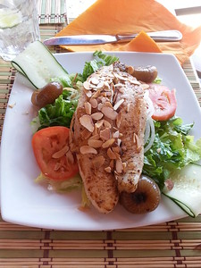 More Healthy eating at Matthew's Restaurant in Aruba...May 2014.