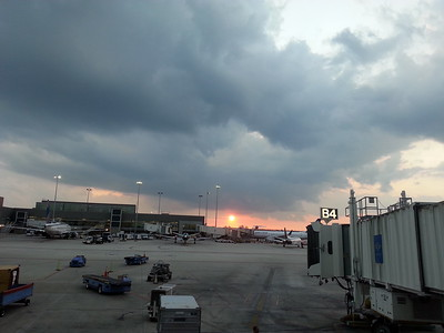 Ft. Lauderdale Fla airport at sunset 4/25/14