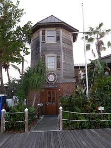 Key West Dockmaster stands on the Marina wharf/boardwalk- Key West, Fla 4/23/14