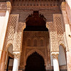 MARRAKESH. SAADIAN TOMBS. CENTRAL MOROCCO.