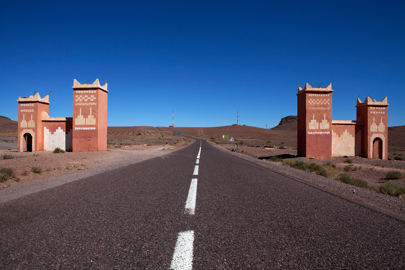 OURZAZATE. GATE OF AGDZ PROVINCE. CENTRAL MOROCCO.