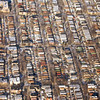 Chicago row houses in winter.