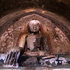 BAGAN. ARCHEOLOGICAL SITE. NYAUNG U. TETIGU TEMPLE. OLD BUDDHA STATUE.