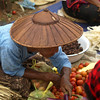 INLE LAKE. LOCAL MARKET. BURMA. MYANMAR.