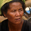INLE LAKE. BURMESE LADY. LOCAL MARKET. BURMA. MYANMAR.