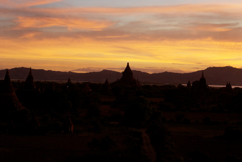 Archeological site of Bagan - Myanmar | Burma. Sunset at Schwesandaw Paya. 12th of July 2009.