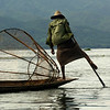 INLE LAKE. FISHER MAN ROWING HIS BOAT. SHAN DISCTRICT. BURMA. MYANMAR.[2]