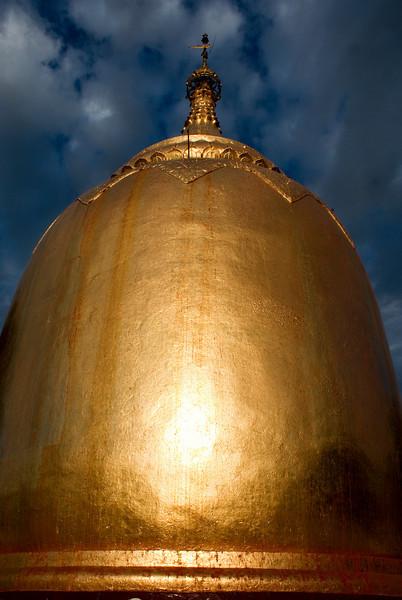 Archeological site of Bagan - Myanmar | Burma. Sunset at Bupaya.