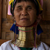 INLE LAKE. LONG NECK LADY. PADUANG TRIBE. MYANMAR | BURMA.