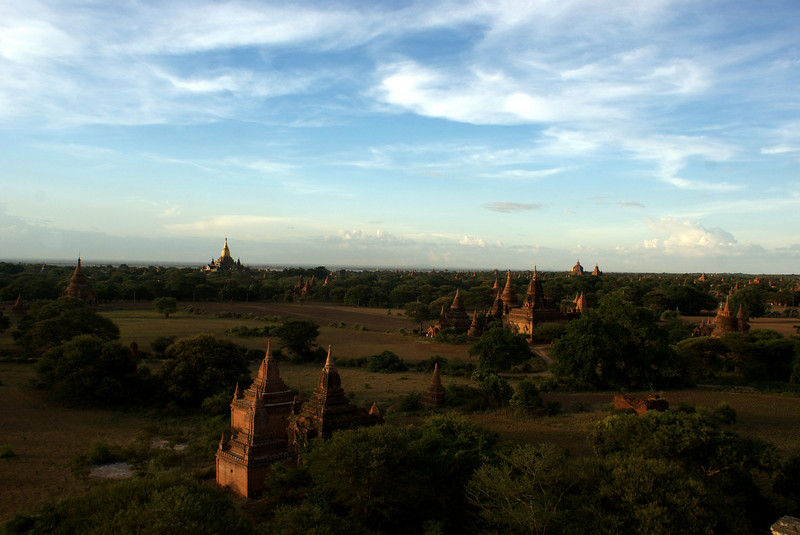 Archeological site of Bagan - Myanmar | Burma. Sunset at Schwesandaw Paya. 12th of July 2009.