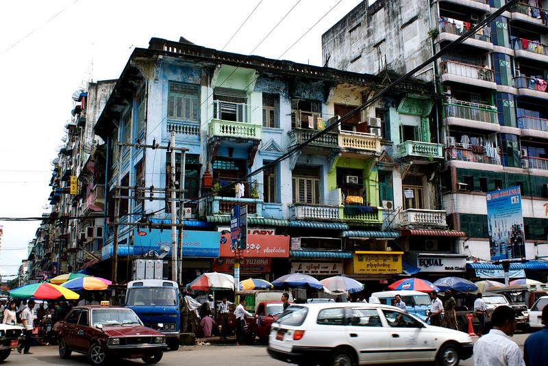 YANGON. RANGOON. CITY CENTER. BURMA. MYANMAR.