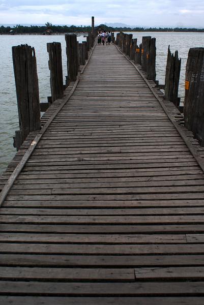 U Bein's Bridge. Amarapura. The longest teak wood bridge in the world. Mandalay Division. Myanmar | Burma