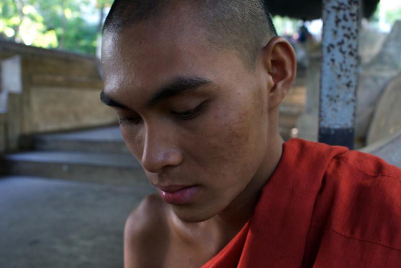 MANDALAY. MONK VEN ACARO [20 YEARS OLD] MANDALAY HILL. BURMA. MYANMAR. [2]