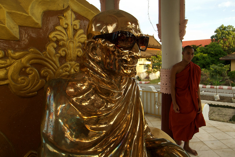 Statue of a Great Monk - University for Monks - Myanmar | Burma - Mandalay