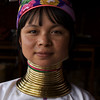 INLE LAKE. GIRL OF THE PADUANG TRIBE [LONG NECKS]. BURMA. MYANMAR.