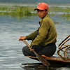 INLE LAKE. FISHER MAN ROWING HIS BOAT. SHAN DISCTRICT. BURMA. MYANMAR.[4]